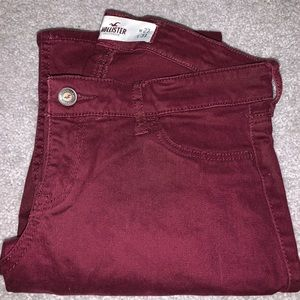 Burgundy hollister jeans